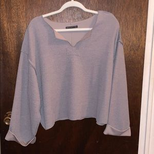 Urban Outfitters Sweaters - NWOT Urban Outfitters Jax Inside Out Notch Top